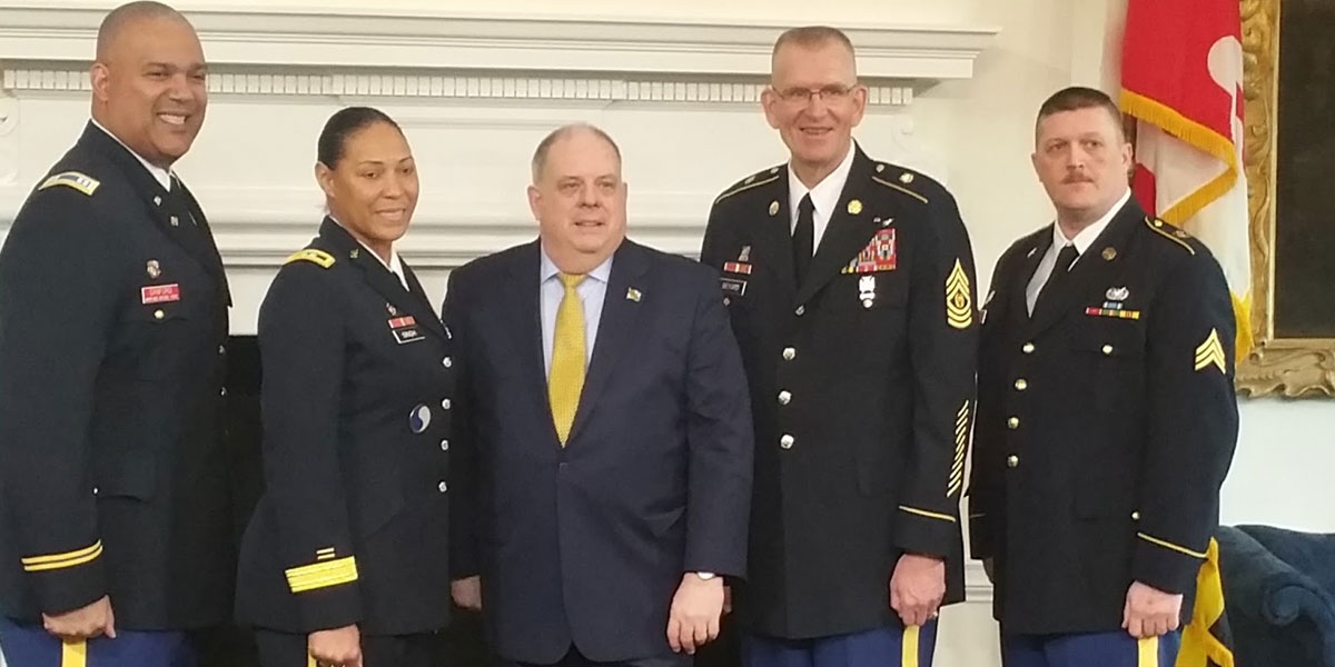 MDDF Officer and NCO of the Year Honored by Governor