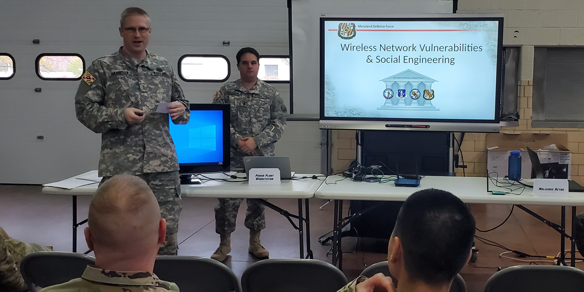MDDF Cyber Defense Unit Provides Demonstration - Article